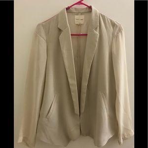 Sheer cream color blazer